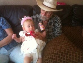 With Great Granddaughter, Aedyn